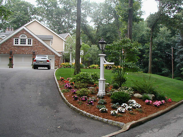 Side Of Driveway Landscaping Entrance