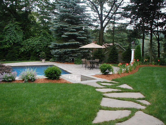 Inground pool garden pictures landscapeadvisor for Pool with garden