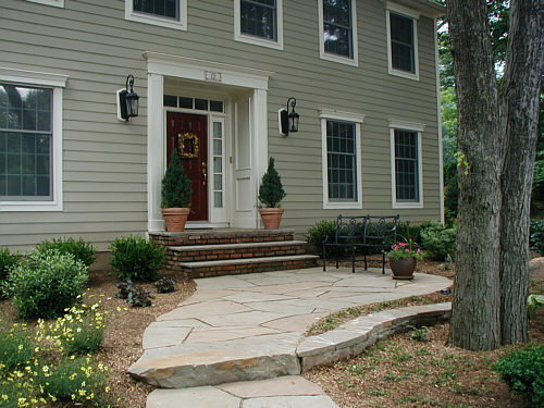 front stone landing