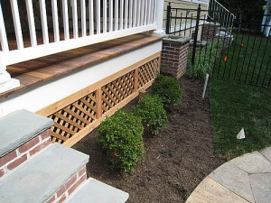 wood lattice underdeck