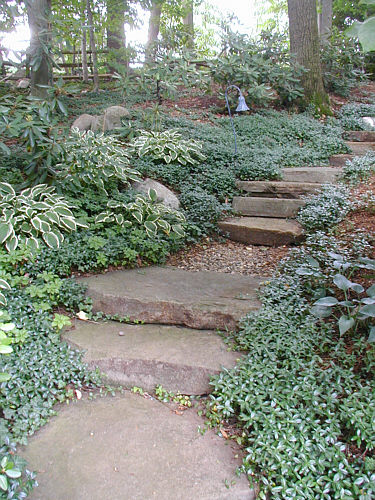 Stone Garden Steps Garden steps that complement landscapeadvisor for the project pictured above stone slab steps workwithnaturefo