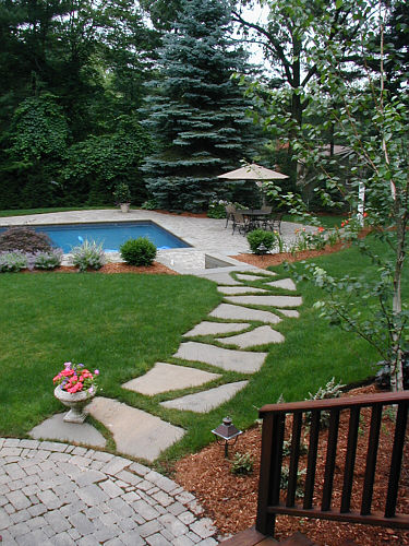 How To Install A Flagstone Path In A Lawn