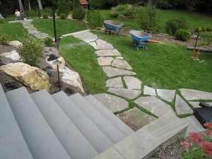 Flagstone path layout