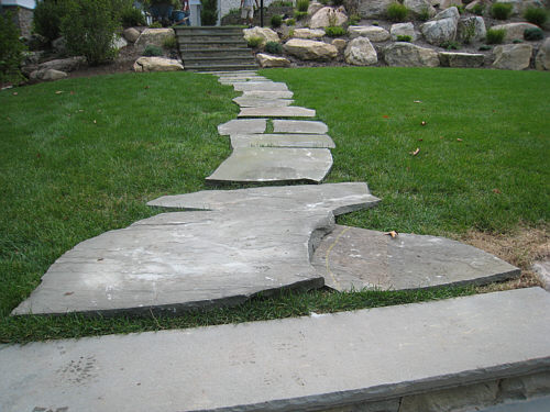 Flagstone Can Be Cut If Necessary