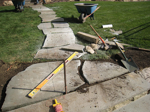 Flagstone Cut And Installed