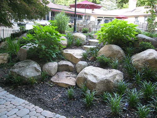 Landscaping Ideas Using Stone : Make stone steps from fieldstone boulders landscapeadvisor
