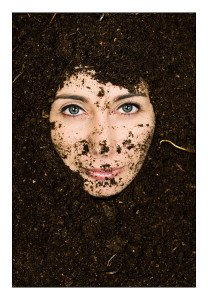 face in soil