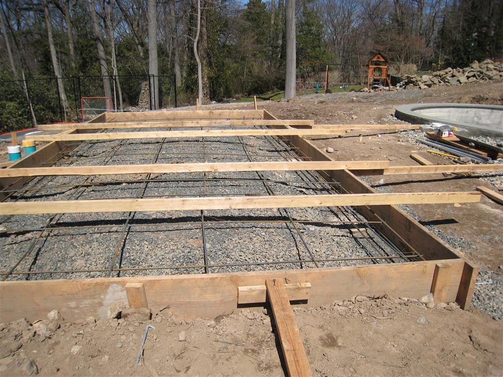 Cabana footings concrete slab base landscapeadvisor for Concrete slab plans